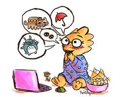 Movie Night with Alphys by Friendlyfoxpal