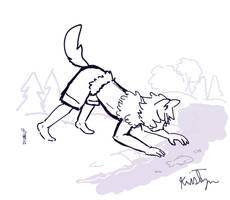 Fishing Wolf by Friendlyfoxpal