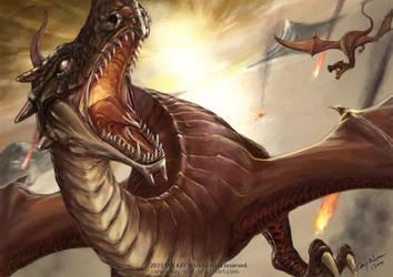 Flying Predator by Kay-Wan