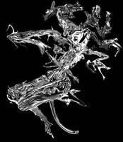 Dragon Guerrier Apocalypse by Graindolium