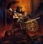 Beowolf defeats Grendel
