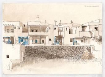 Dwellings in Sifnos by zancan