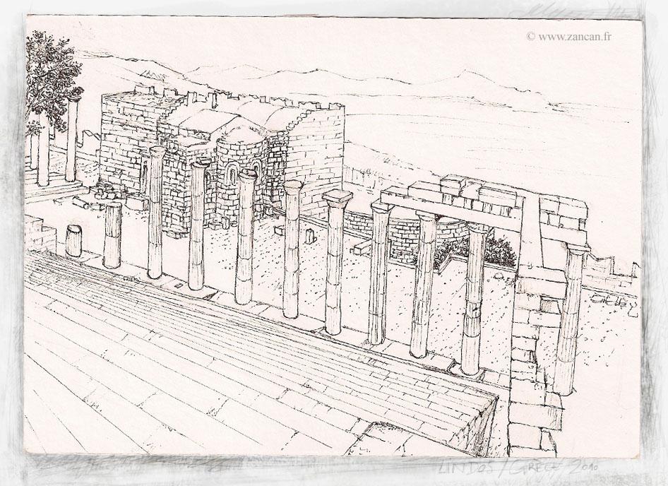 Temple in Lindos, Rodos by zancan