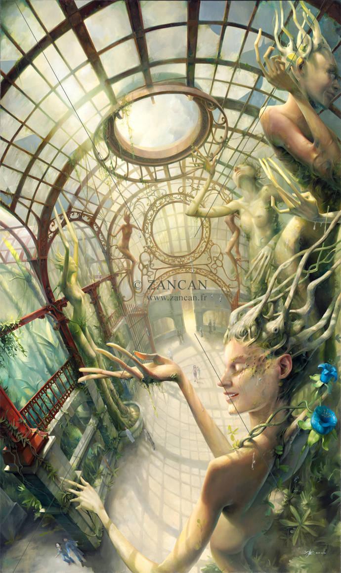 Tears of joy in the garden of giants by zancan
