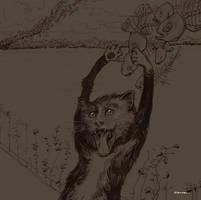 MunchCat Sketch by zancan
