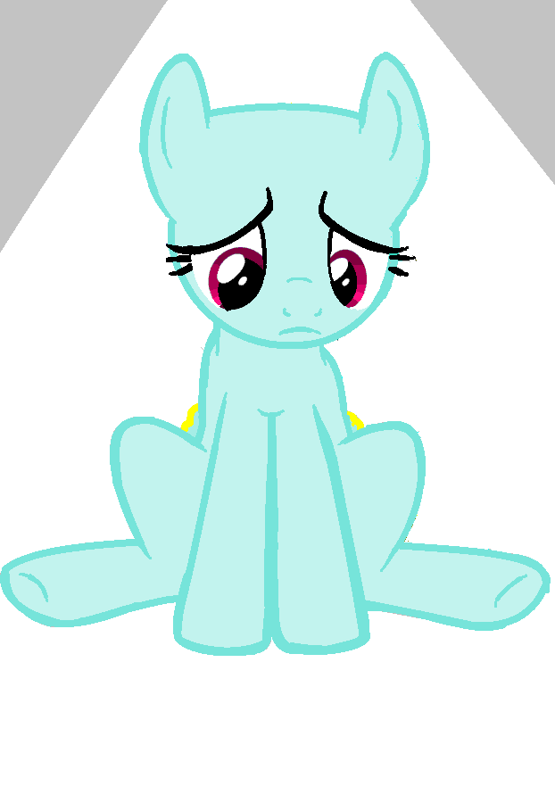 sad base is sad pony base by irdinahaiza on deviantart