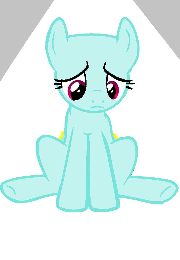 Sad base is sad. (pony base) by IrdinaHaiza on DeviantArt