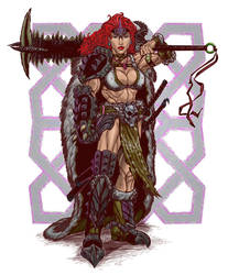 Red Headed Warrior Barbarian Badass.