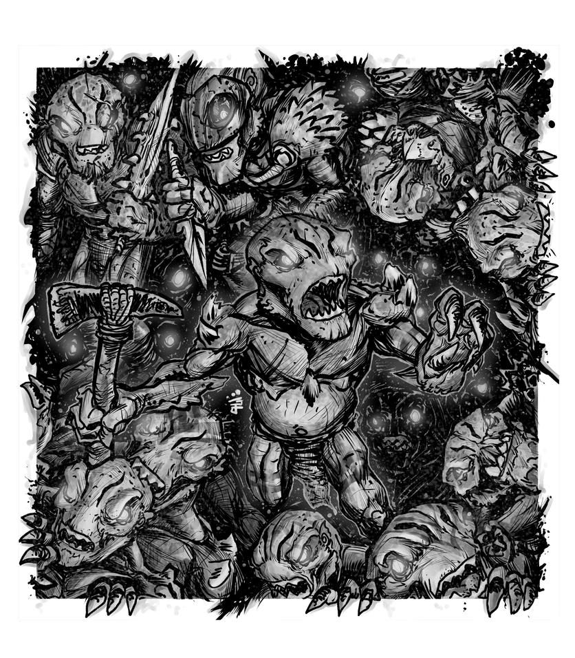 RPG Commission: Ravenous Kobolds by WEXAL