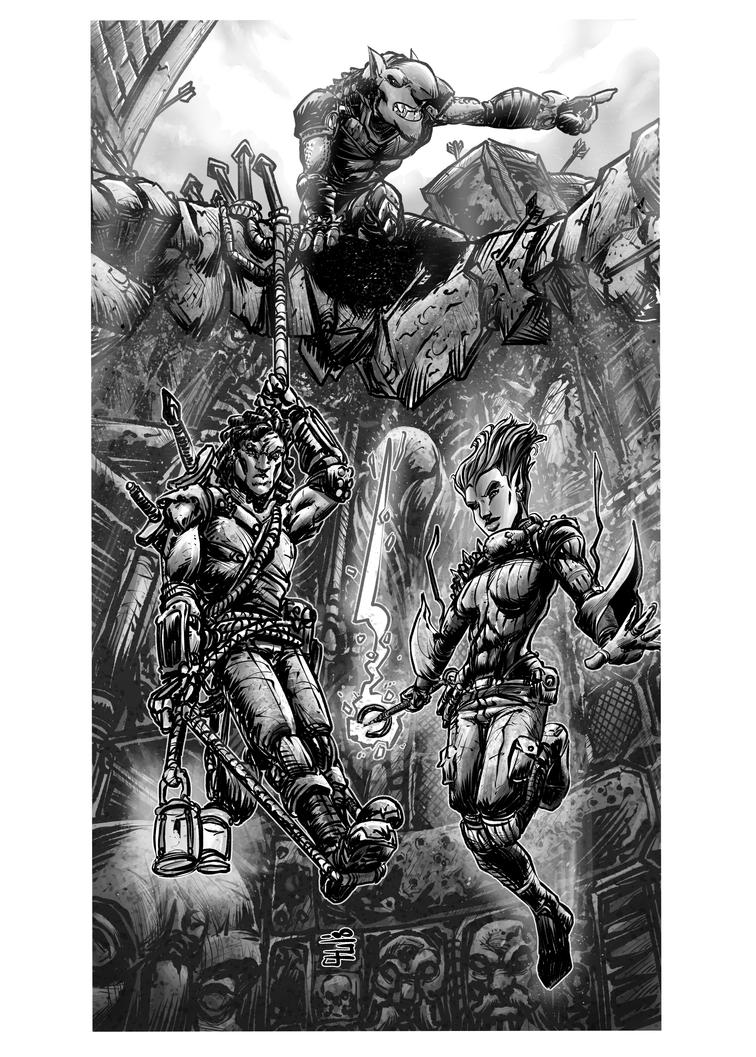 RPG Commission: Spelunking Adventurers by WEXAL