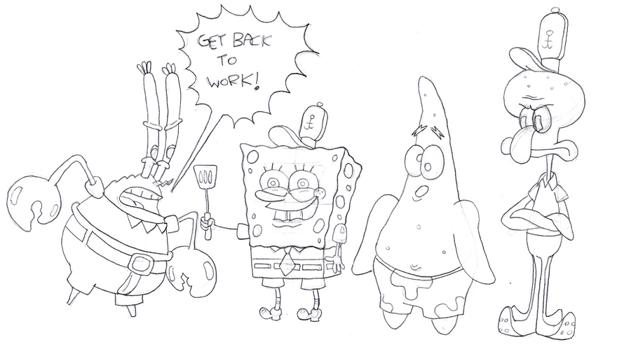 Go Back > Gallery For > Drawings Of Spongebob Characters