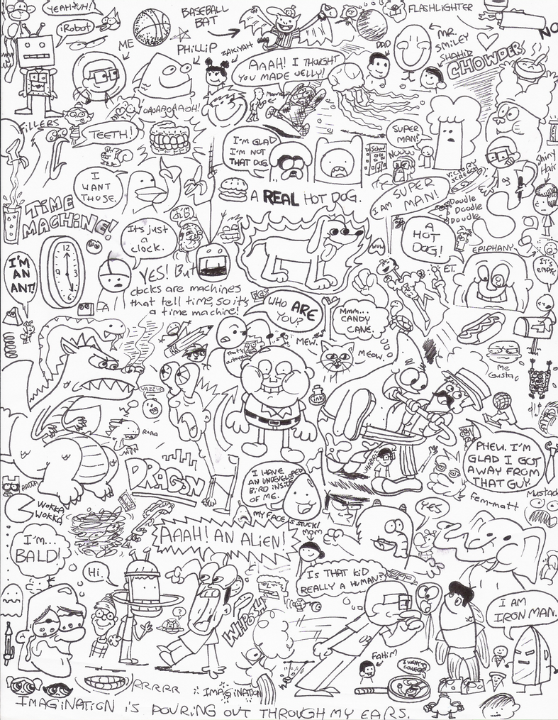 Oodles Of Doodles By Cartoonkal On Deviantart Doodle Coloring Pages 2