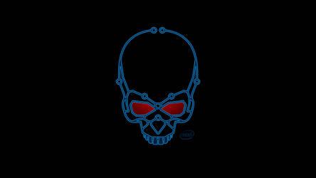 Intel Skull Wallpaper 1080 by euphoricallydead