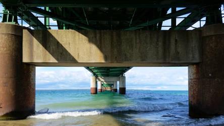 Water Under the Mackinaw Bridge