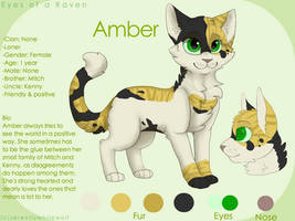 Amber reference sheet by PaintedSerenity