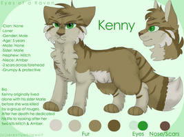 Kenny reference sheet by PaintedSerenity