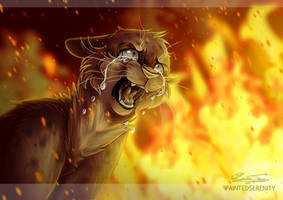 Ashfur ~ 'Burn' by PaintedSerenity