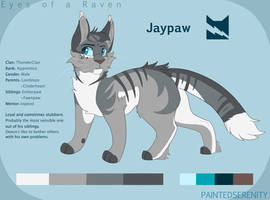 Jaypaw reference sheet by PaintedSerenity