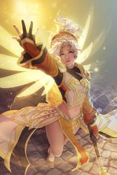 2018-09-22: Holy Priest Mercy by hikari-chan