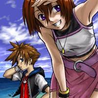 KH - Sora and Kairi by hikari-chan