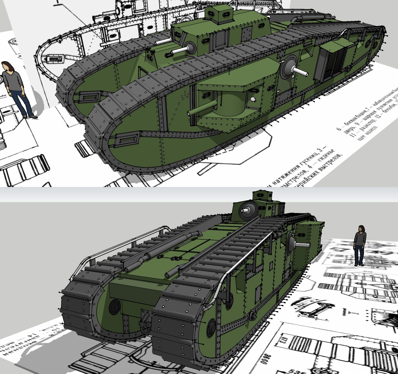 Mk. VIII liberty tank by Giganaut