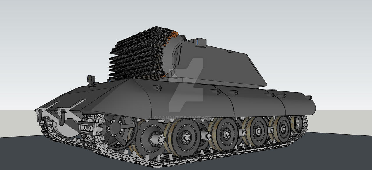 best anti aircraft E-100 by Giganaut
