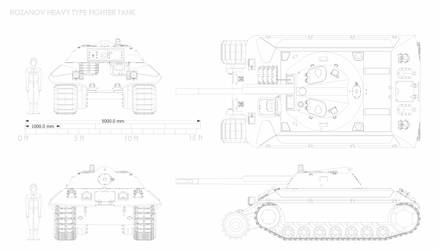 Rozanov Heavy tank by Giganaut