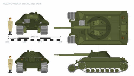 Rozanov Heavy tank colored by Giganaut