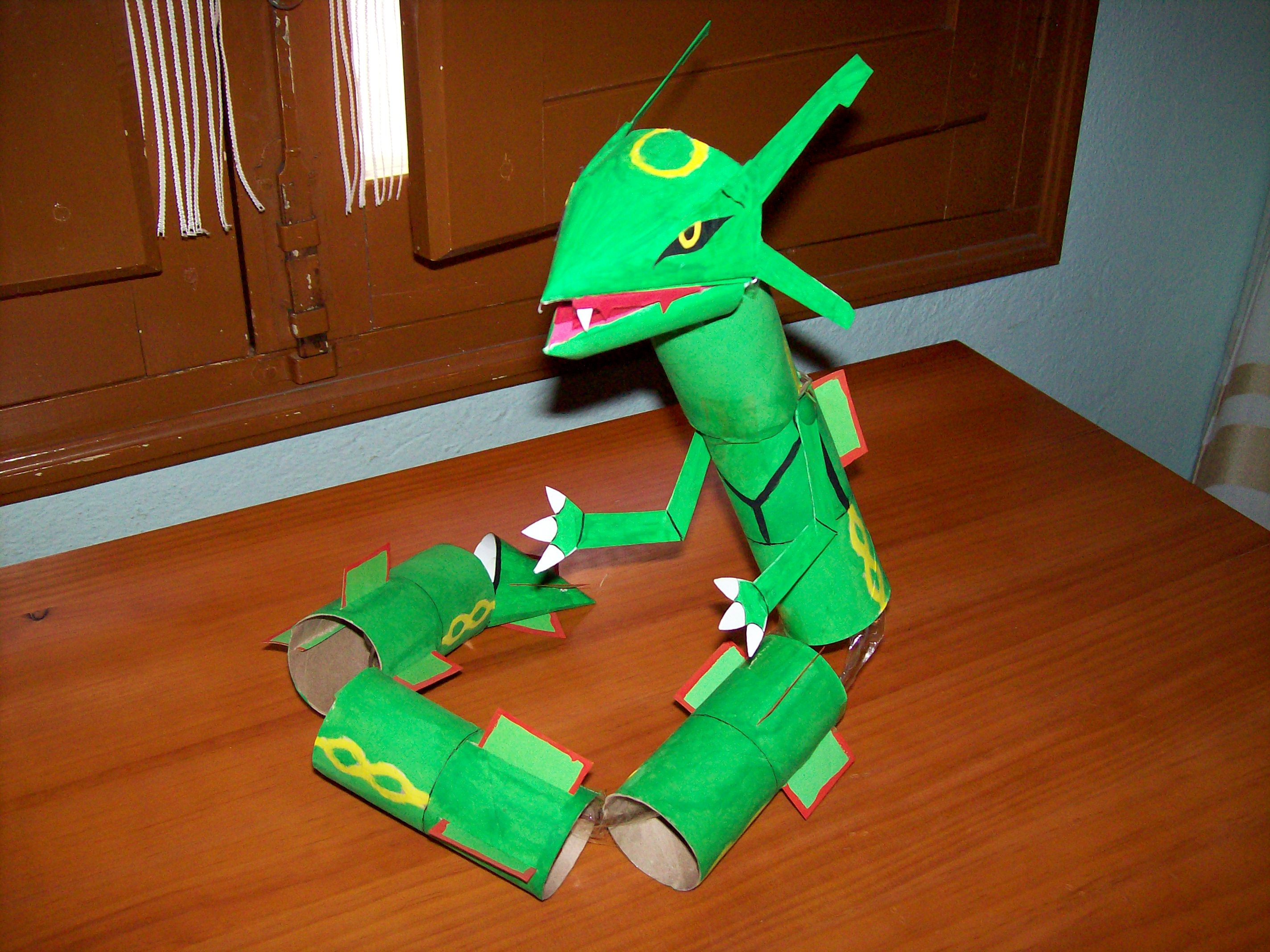 Rayquaza ToiletPaperTubes 2007 by Gonzaloguay