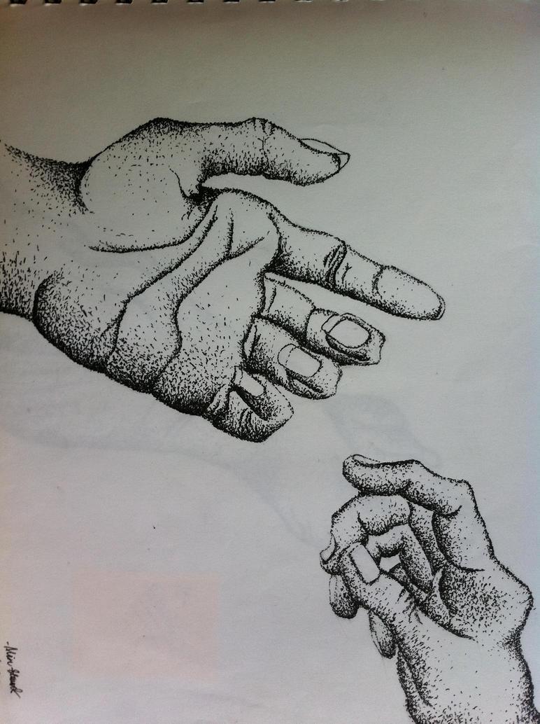 Reaching Hands by AliNicole-S on DeviantArt