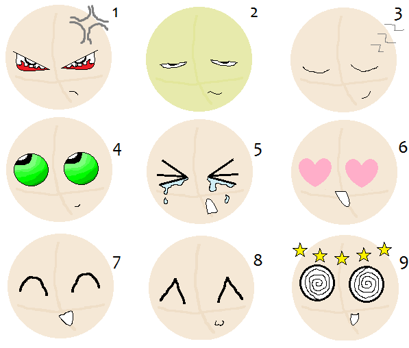 how to draw chibi facial expressions