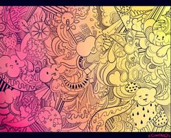 Dreamy Mixeland - Lineart by caotiko
