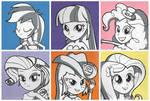 Equestria Girls - Pop Art Paintings