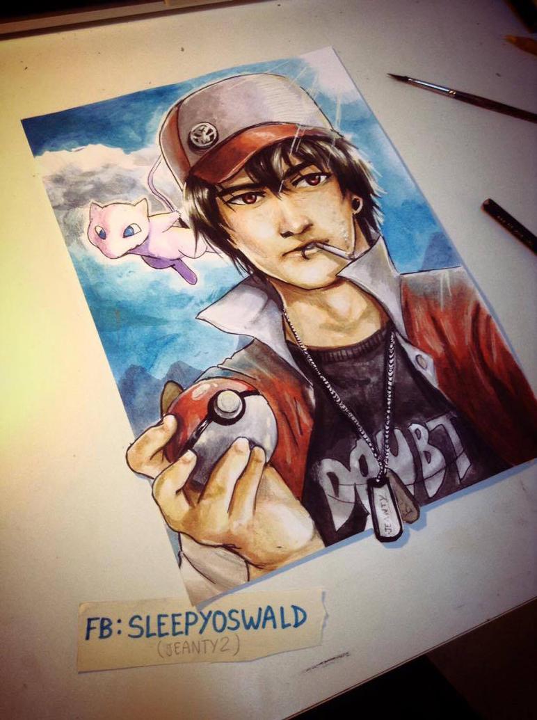 red pokemon fan art by wallach1 on deviantart