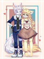Comm Vainilla and Aisu by AdalKary399