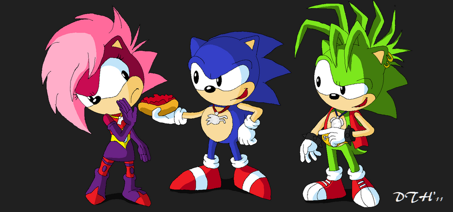 Topless sonic characters, nudist marriage