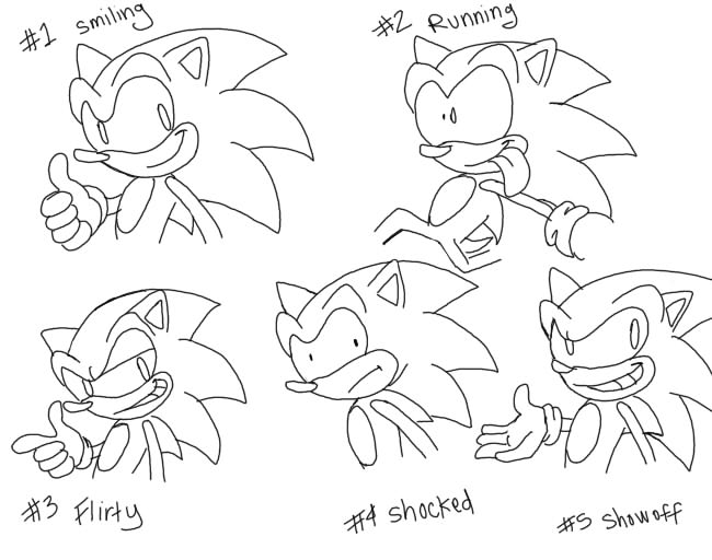 Sonic S Face Expressions By Domestic Hedgehog On Deviantart