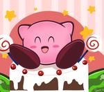 Kirby loves cake