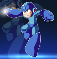 MegaMan by Domestic-hedgehog