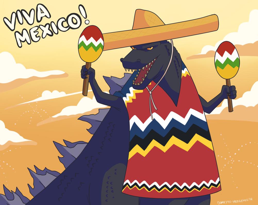 Godzilla: Viva Mexico by Domestic-hedgehog on DeviantArt
