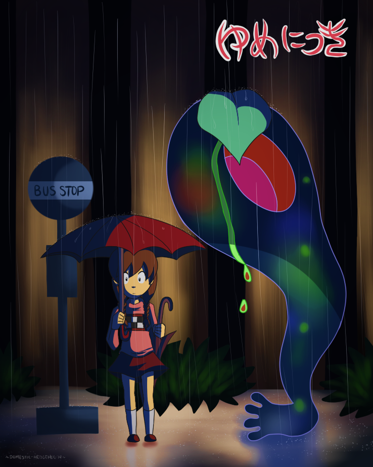 In The Rain by Domestic-hedgehog