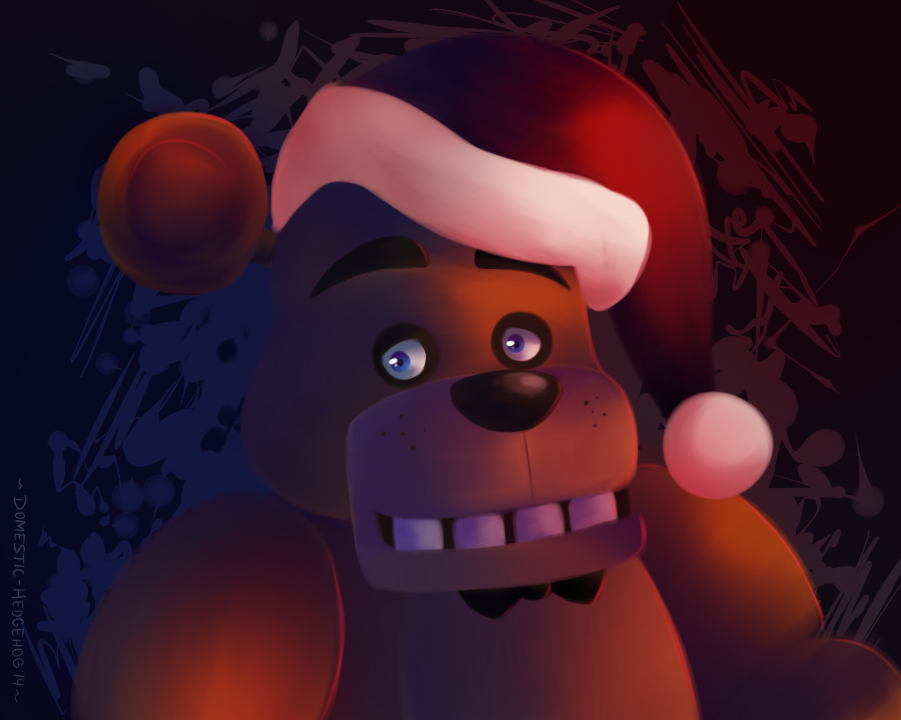Freddy Wishes You A Happy Holiday by Domestic-hedgehog
