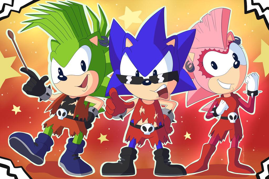 Sonic Underground Rockstars By Domestic Hedgehog On Deviantart