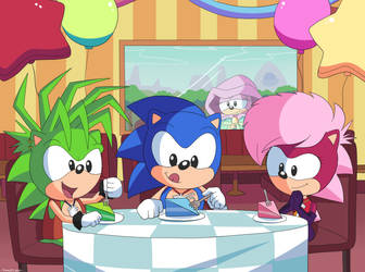 Commission Party with the Hedgehogs by Domestic-hedgehog