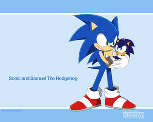 Commission Sonic and Samuel by Domestic-hedgehog