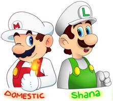 Mario Bros Collab by Domestic-hedgehog