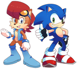 Commission Sonic and Sally Redesigns