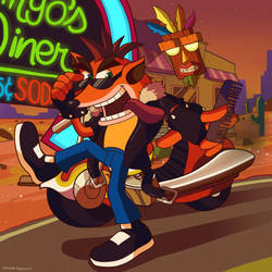 The Cool and Crazy Crash Bandicoot by Domestic-hedgehog