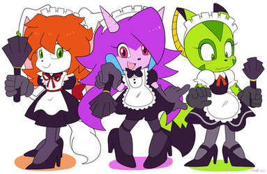 Commission Freedom Planet Maids by Domestic-hedgehog