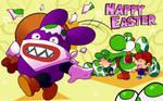 Nabbit Stealing Easter Eggs
